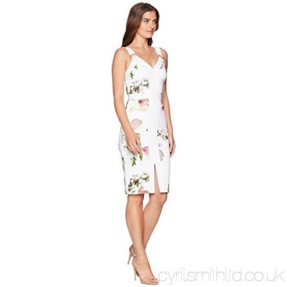 b99f09b7d White Irasela Harmony Floral Sheath Casual Dress